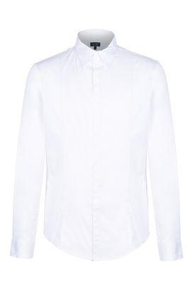 Armani Camicie maniche lunghe Uomo camicia in cotone con pinces