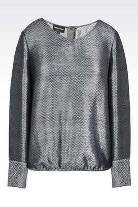 Armani Shirts Women niky v-neck linen and silk blouse