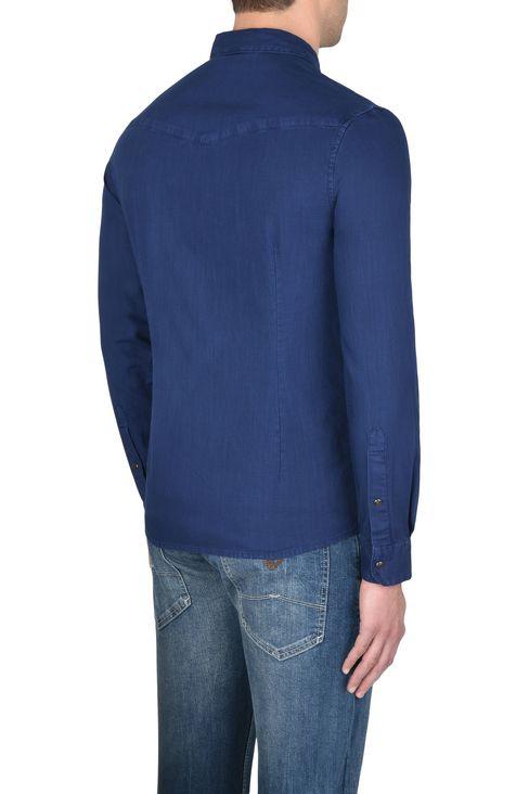 CAMICIA IN TELA DI COTONE: Camicie maniche lunghe Uomo by Armani - 3