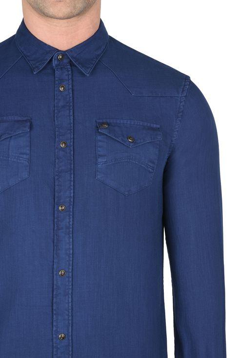 CAMICIA IN TELA DI COTONE: Camicie maniche lunghe Uomo by Armani - 4
