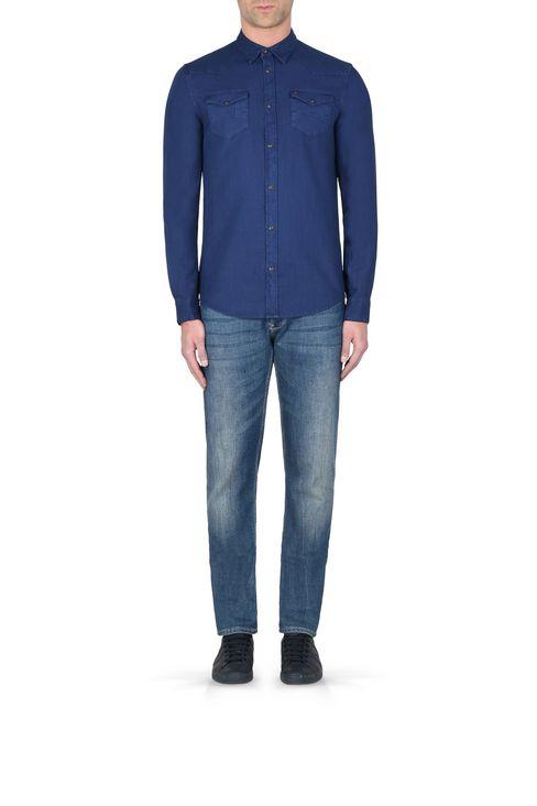 CAMICIA IN TELA DI COTONE: Camicie maniche lunghe Uomo by Armani - 2