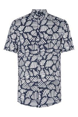 Armani Short sleeve shirts Men short-sleeved shirt with geometric pattern
