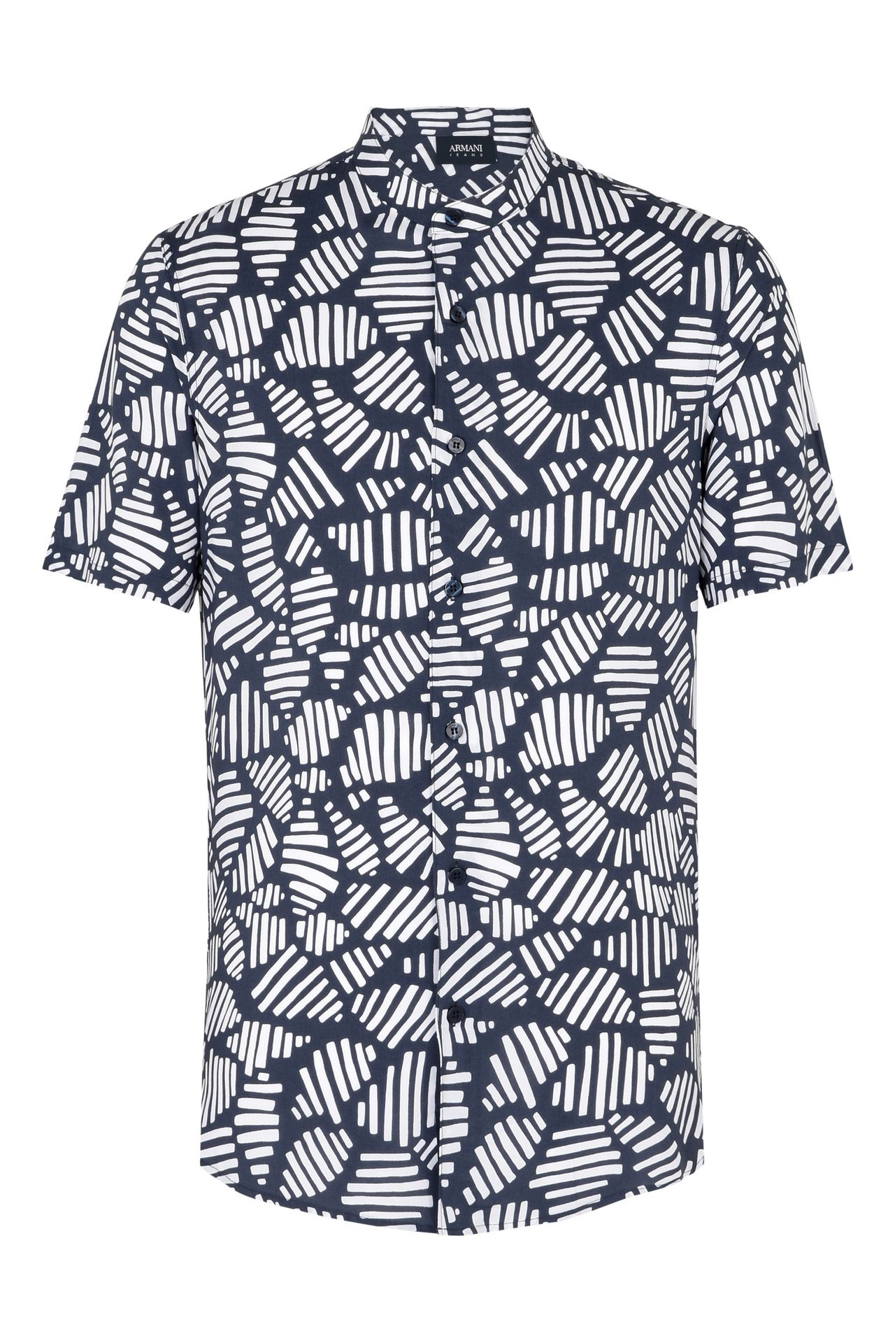 CAMICIA MANICHE CORTE IN FANTASIA GEOMETRICA : Camicie maniche corte Uomo by Armani - 0