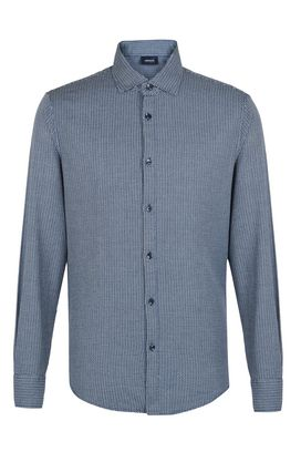 Armani Long sleeve shirts Men 100% cotton shirt with two tone pattern