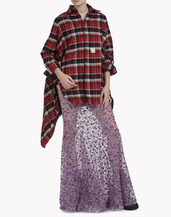 oversize check cotton shirt chemises Femme Dsquared2
