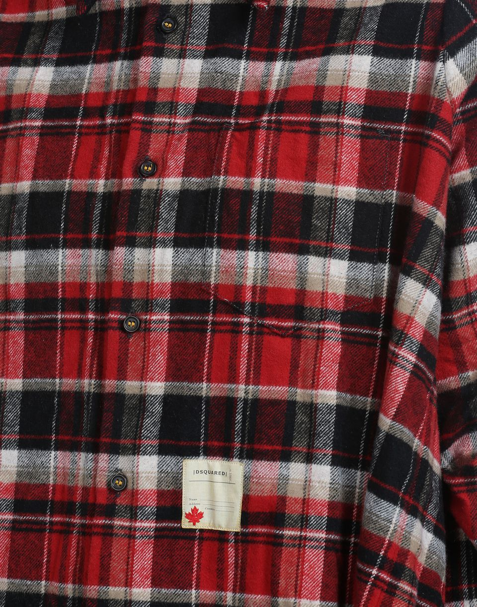 oversize check cotton shirt shirts Woman Dsquared2
