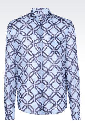 Armani Shirts Men ramie shirt