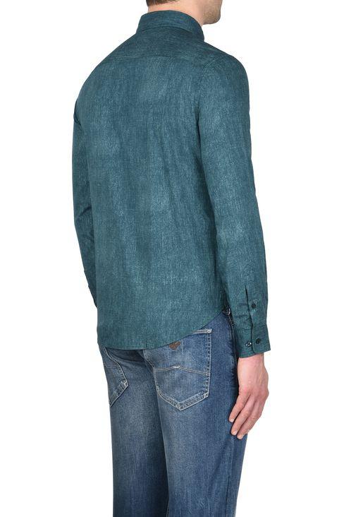 CAMICIA IN 100% COTONE FANTASIA MELANGE: Camicie maniche lunghe Uomo by Armani - 3