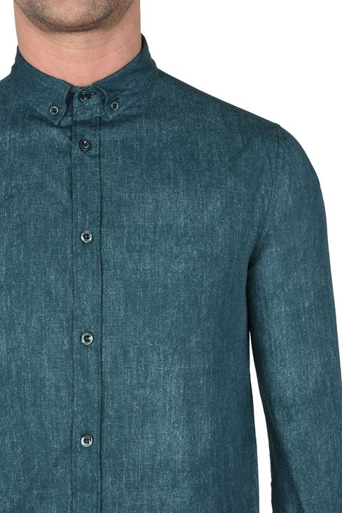 CAMICIA IN 100% COTONE FANTASIA MELANGE: Camicie maniche lunghe Uomo by Armani - 4