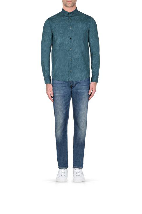 CAMICIA IN 100% COTONE FANTASIA MELANGE: Camicie maniche lunghe Uomo by Armani - 2