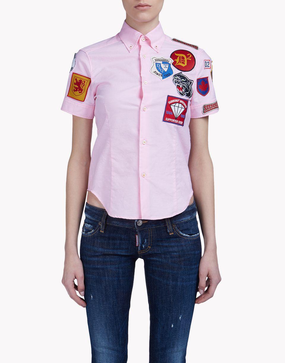 Dsquared2 patch button down t shirt shirts women for Button down t shirts