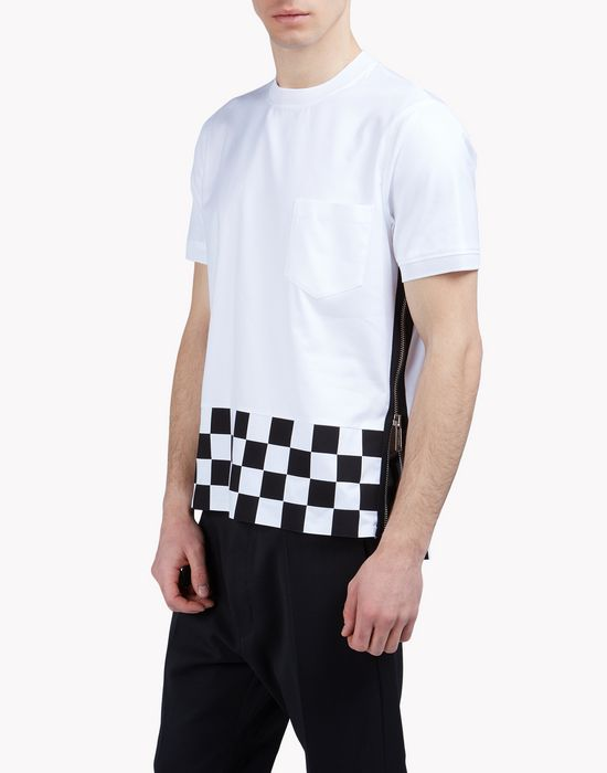 contrast checkerboard shirt tops & tees Man Dsquared2
