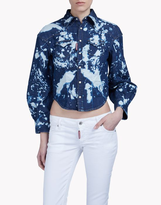 oversize bleached denim shirt camicie Donna Dsquared2