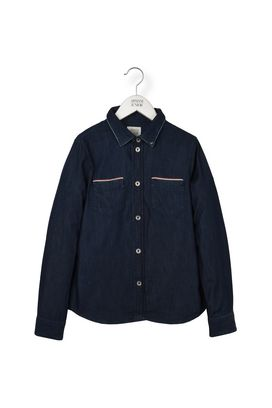 Armani Long sleeve shirts Men denim shirt with collar logo