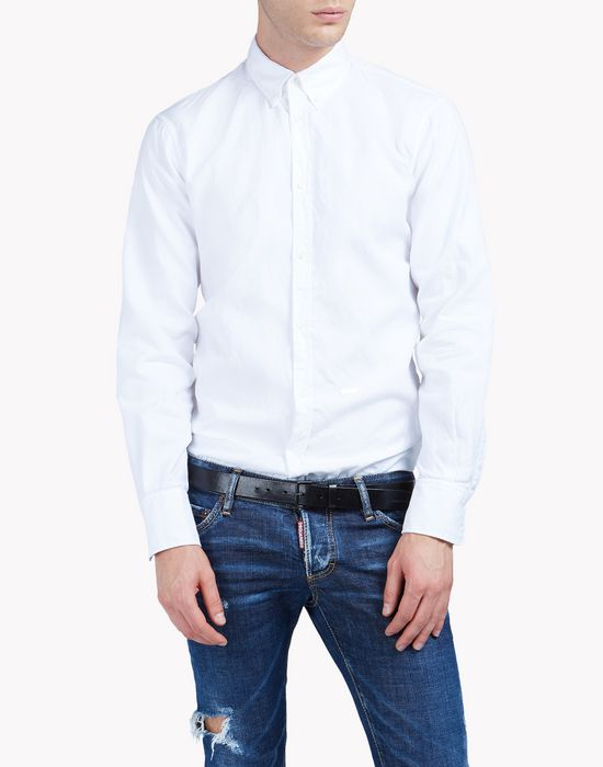 cotton canvas shirt shirts Man Dsquared2