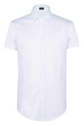 Armani Short sleeve shirts Men short-sleeved stretch cotton shirt