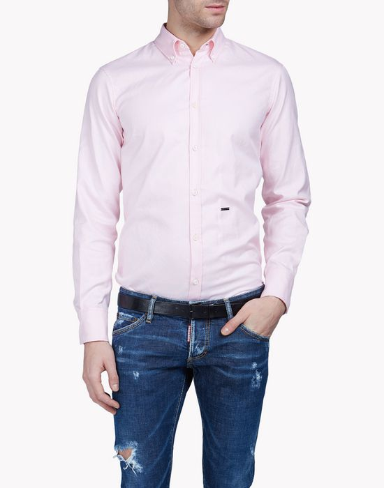 cotton shirt camicie Uomo Dsquared2