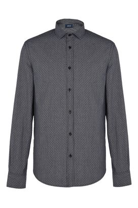 Armani Long sleeve shirts Men micro pattern 100% cotton shirt