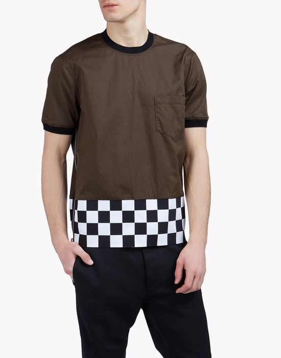 cargo checkerboard t-shirt tops & tees Man Dsquared2
