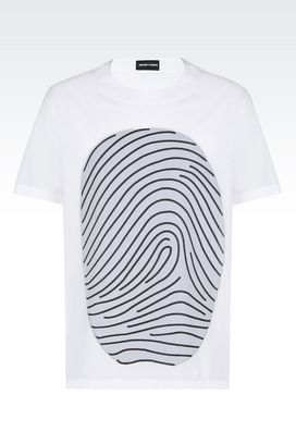 Armani Shirts Men fingerprint shirt
