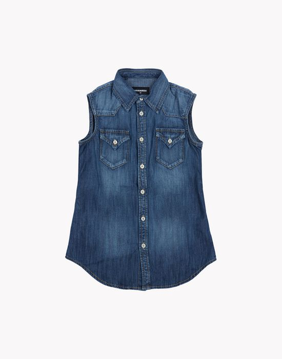 denim tank top shirts Woman Dsquared2