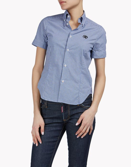 check polo shirt chemises Femme Dsquared2
