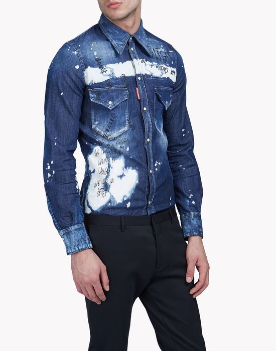 slim-fit western shirt shirts Man Dsquared2