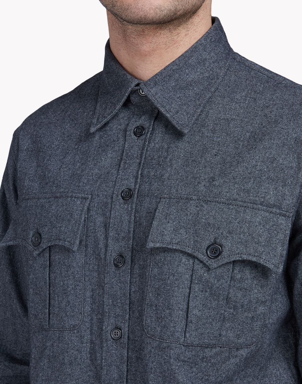 western cotton-flannel shirt shirts Man Dsquared2
