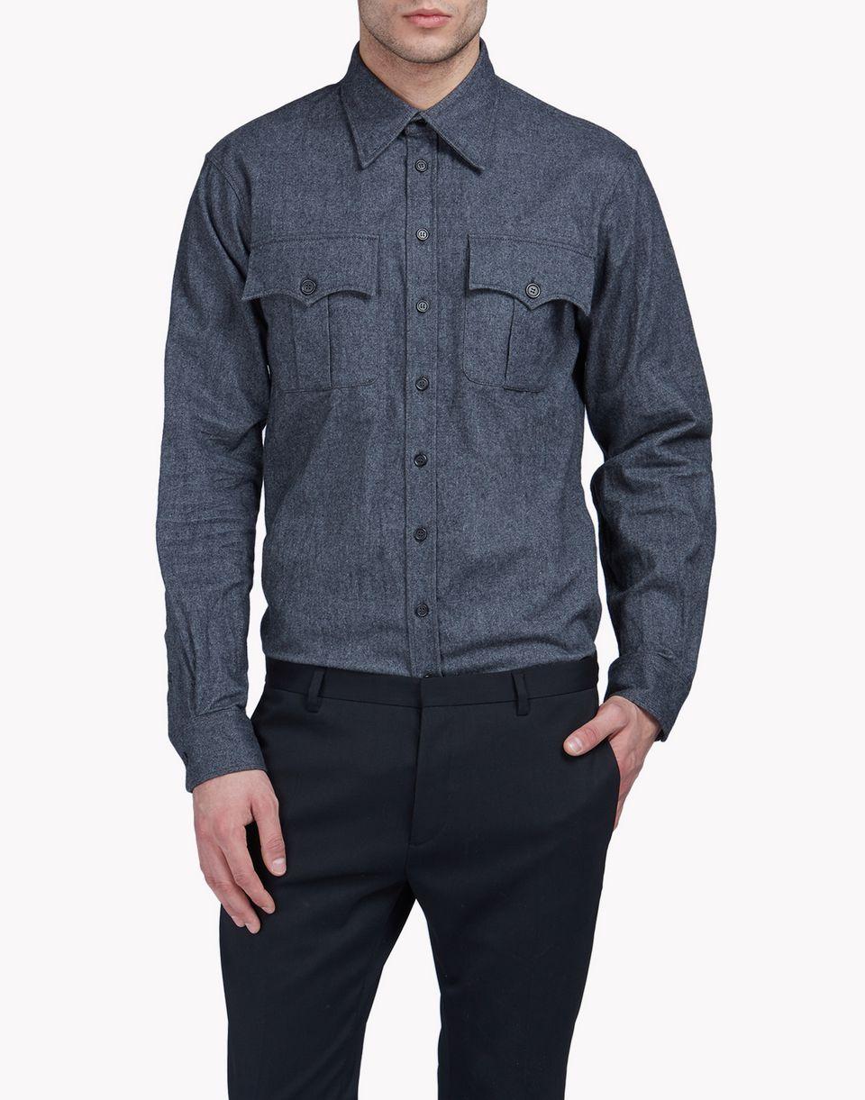 western cotton-flannel shirt hemden Herren Dsquared2