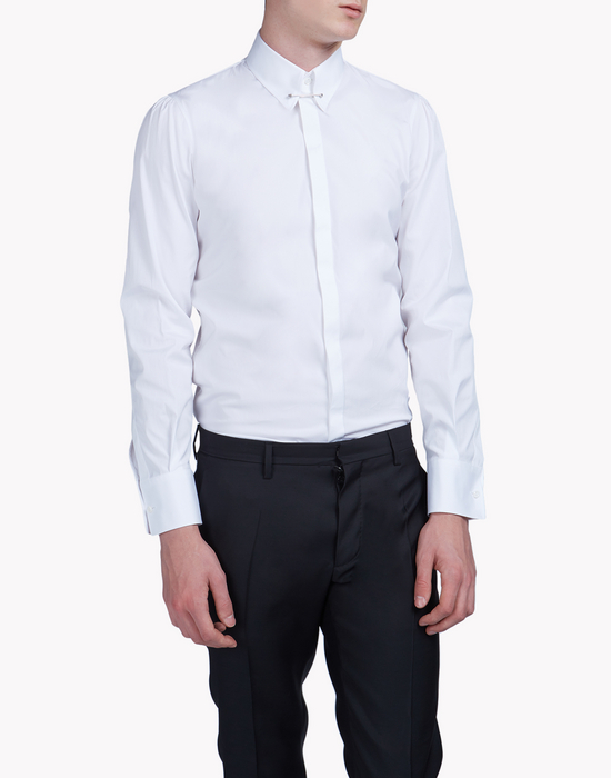 pinned collar poplin shirt hemden Herren Dsquared2