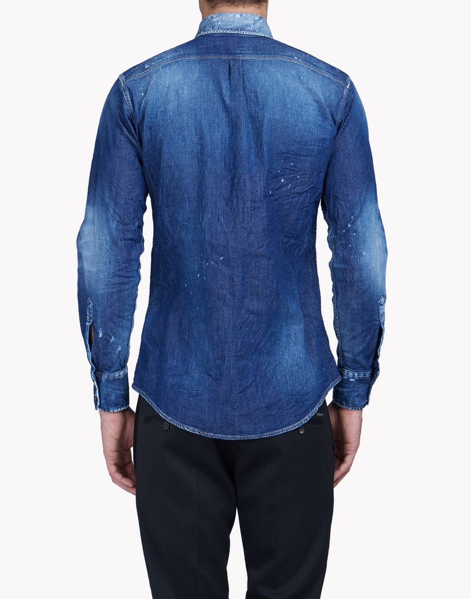 denim shirt shirts Man Dsquared2
