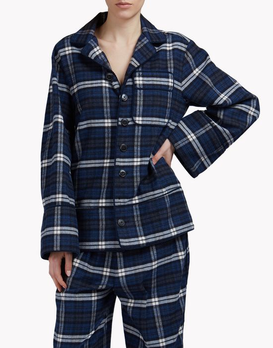 check pyjama shirt shirts Woman Dsquared2