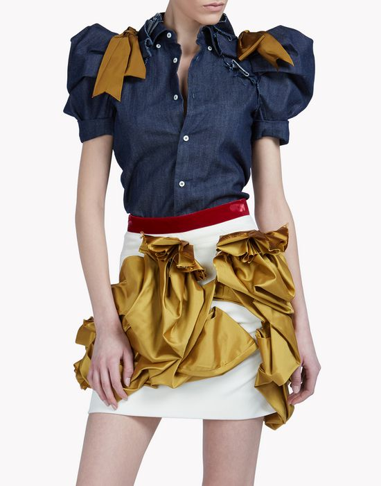 heraldic denim shirt shirts Woman Dsquared2