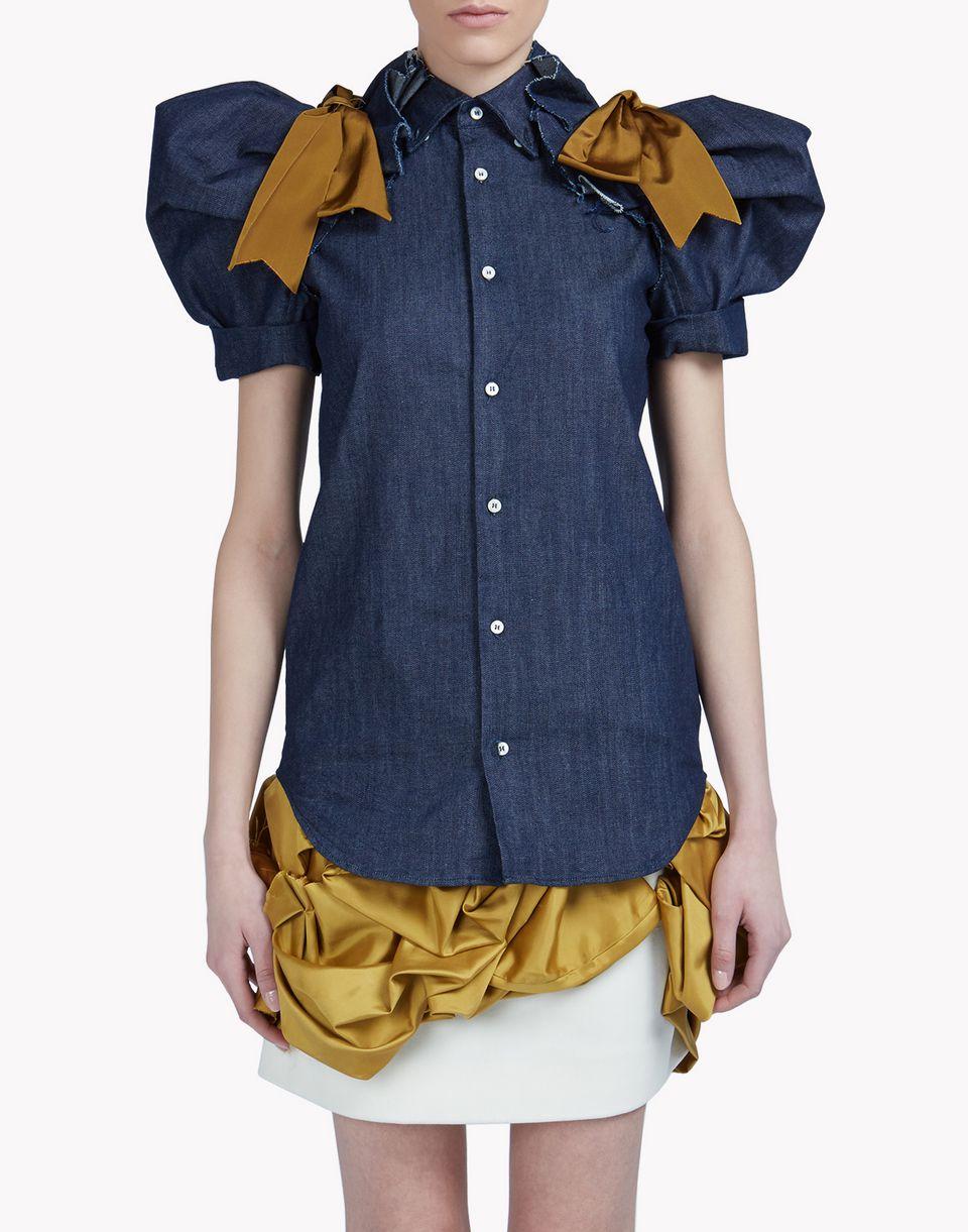 heraldic denim shirt shirts Woman Dsquared2