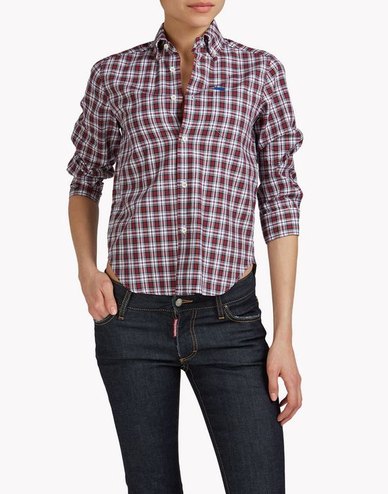 check shirt shirts Woman Dsquared2