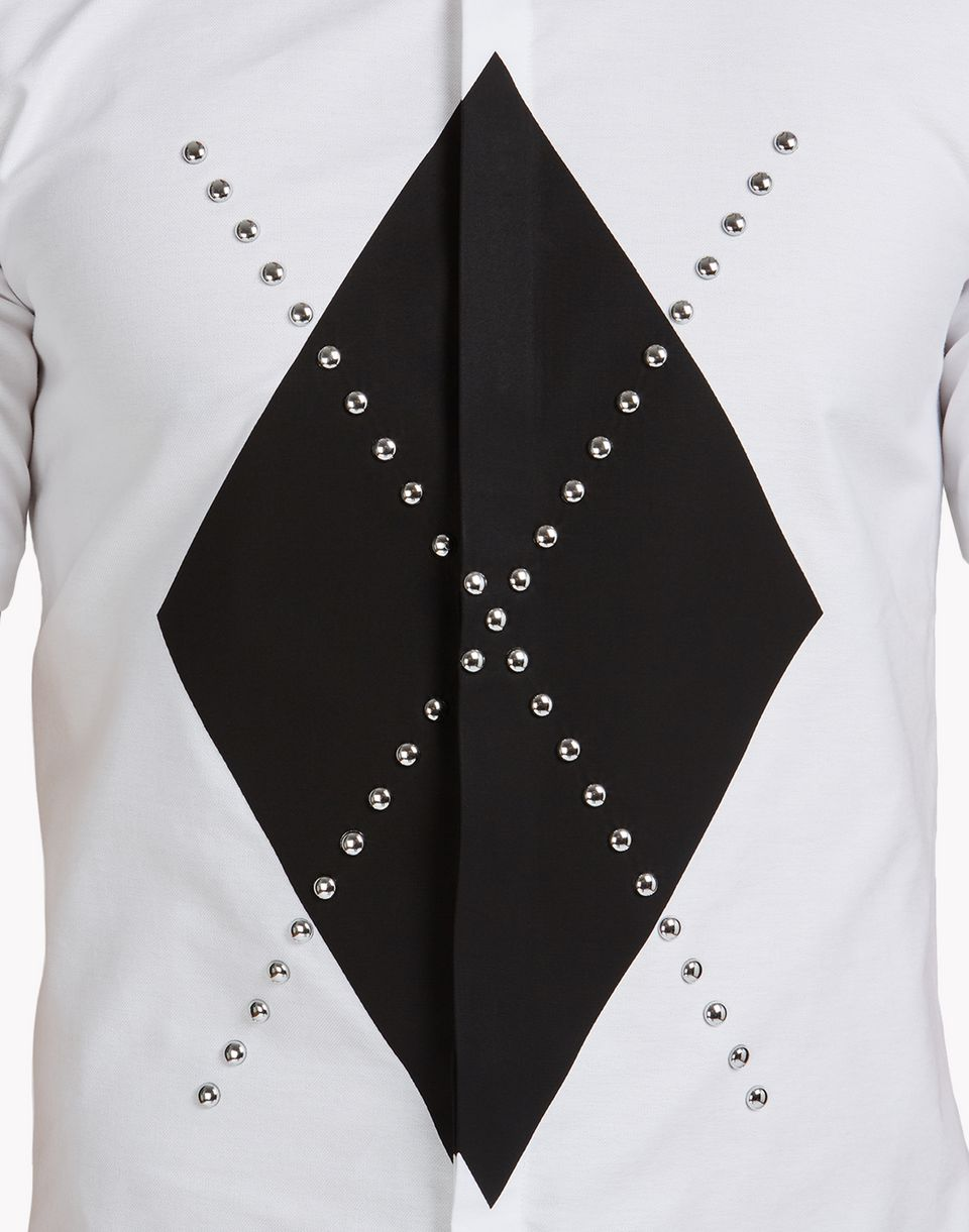 embellished argyle shirt shirts Man Dsquared2