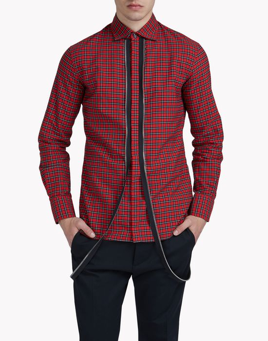 check zip shirt camicie Uomo Dsquared2