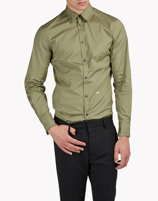 wired collar poplin shirt hemden Herren Dsquared2