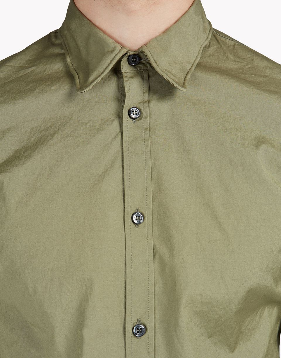 wired collar poplin shirt shirts Man Dsquared2