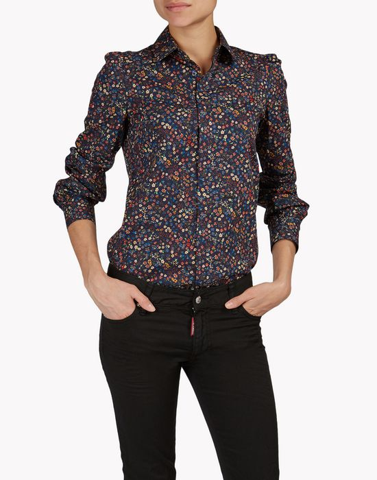floral cotton shirt camicie Donna Dsquared2