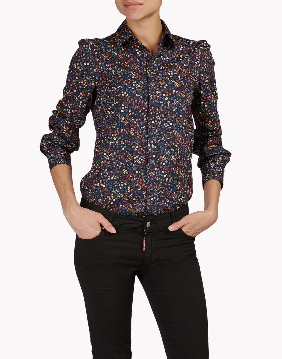 floral cotton shirt shirts Woman Dsquared2