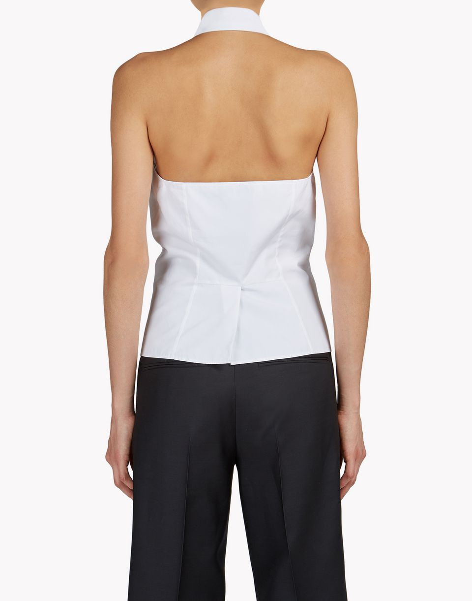 ruffle bib halter neck shirts Woman Dsquared2