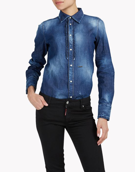 denim ruffle shirt camicie Donna Dsquared2