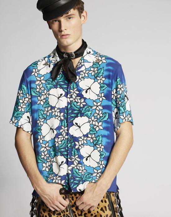 hibiscus rocker shirt shirts Man Dsquared2