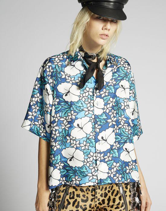 hibiscus rocker shirt shirts Woman Dsquared2