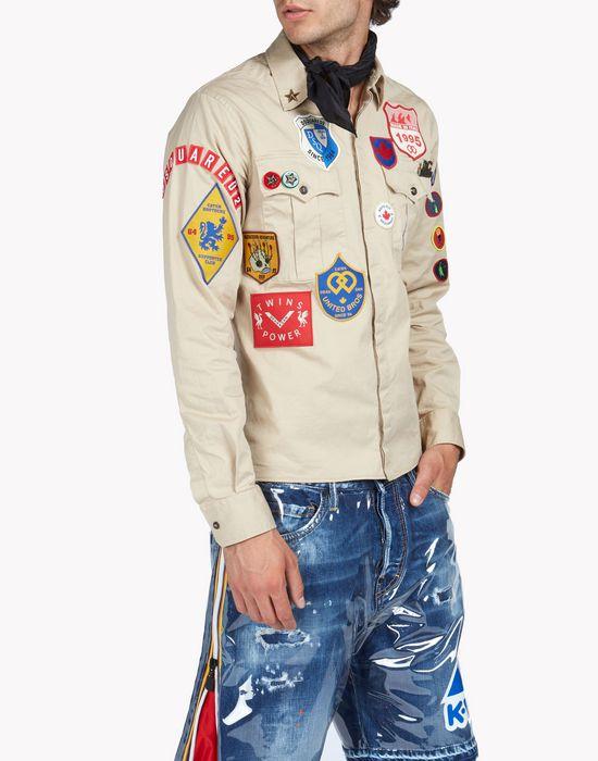 patch scout shirt shirts Man Dsquared2