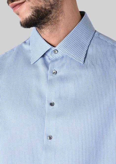 FRENCH COLLAR COTTON SHIRT: Classic Shirts Men by Armani - 5