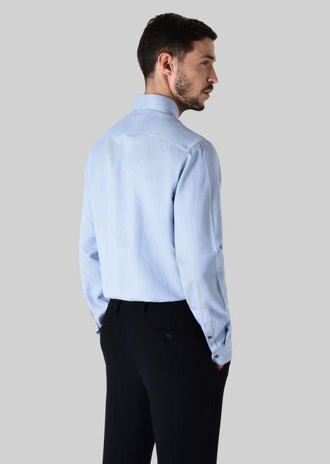 FRENCH COLLAR COTTON SHIRT: Classic Shirts Men by Armani - 4