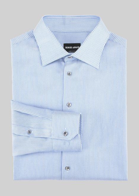 FRENCH COLLAR COTTON SHIRT: Classic Shirts Men by Armani - 2