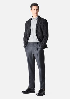 Armani Casual Shirts Men formal cotton shirt with a covered placket and a small italian collar